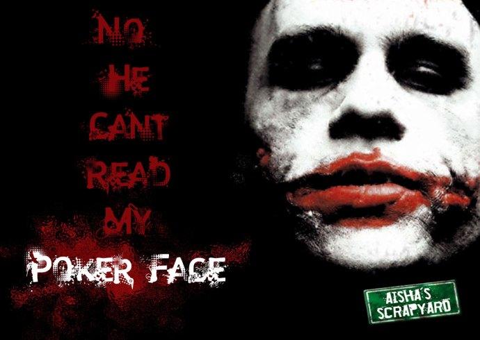 Joker Heath Ledger (Batman) With Poker Face Quote