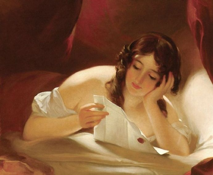 Roman Woman Reading Love Letter